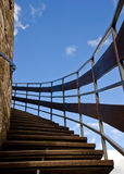 Way up 2. Wooden stairway to the heaven Royalty Free Stock Image