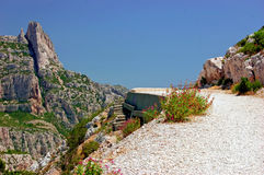 Way up to the lookout point in the Calanques Sugit Royalty Free Stock Images