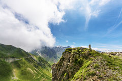 Way up to Pic du Midi Royalty Free Stock Photography