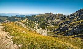Way Up to Top of Chopok Mount. Mountain Landscape. Royalty Free Stock Image