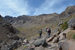 On the way up to Toubkal Royalty Free Stock Photography