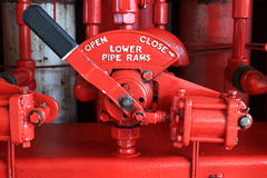 4-Way Valve for BOP Closing System Unit. (Koomey Unit) for BOP Control System in Oil Drilling Rig Royalty Free Stock Photography