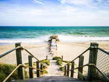 Way walk to the sea in Bournemouth, UK. This is a place for holiday and family time that you will be relaxed. Royalty Free Stock Images