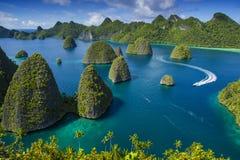 Wayag, раджа Ampat Стоковая Фотография