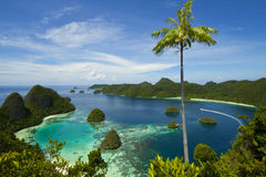 Wayag Hill Raja Ampat Stock Photo
