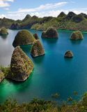 Wayag Island is one of the most favorite spot to see a group a small Island in Raja Ampat, Indonesia Stock Photo
