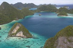 Wayag Islands, West Papua, Indonesia. View of Wayag, Raja Ampat, Papua, Indonesia, the best places for snorkeling and diving royalty free stock images