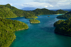 Wayag Raja Ampat Papua. Wayag Island at Raja Ampat Papua Indonesia, view from the top of hill island at Wayag royalty free stock photography