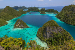 Wayag viewpoint,Raja ampat 02 Royalty Free Stock Photography