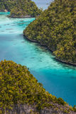 Wayag viewpoint,Raja ampat,Indonesia Stock Photo