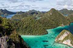 Wayag wapnia wyspy Obrazy Royalty Free