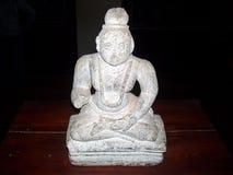 Wayanad, Kerala, India 31 Augustus, het Standbeeld van 2008 van een vrouw in yoga stelt in een museum Royalty-vrije Stock Fotografie