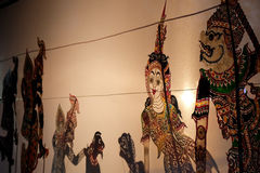 Wayang or backlight puppet. Is considered as traditional show in South Asian region Royalty Free Stock Photo