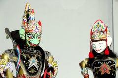 Wayang golek gatot kaca. Wooden puppet, wayang golek from java, gatot kaca and wife Stock Image