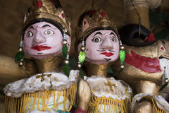 Wayang golek wood puppet traditional culture of javanese indonesia. Wayang golek wood puppet traditional culture of sundanese javanese indonesia Royalty Free Stock Images