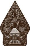 Wayang Gunungan темный Браун, индонезийская традиционная марионетка тени - иллюстрация вектора бесплатная иллюстрация