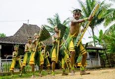Wayang Kardus tradizionale nella centrale Java di Klaten fotografia stock