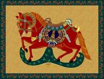 Wayang Kulit koń ilustracji