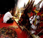 Wayang Kulit (Schatten-Spiel) Stockfotos