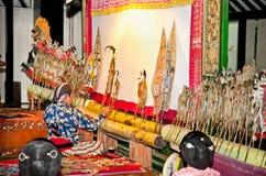 Wayang Kulit in Sonobudoyo museum,Yogyakarta, Indonesia. Stock Photos