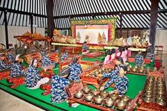 Wayang Kulit in Yogyakarta auf Java, Indonesien. stockfoto