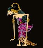 ` Wayang o arte del ` del burattino del jawa antico Indonesia Drupadi della cultura Immagini Stock