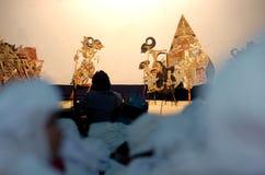 Wayang show. Wayang Kulit shadow puppet show at East Java, Indonesia Royalty Free Stock Image