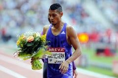 Wayde Van Niekerk  Areva meeting at the Stade de France Royalty Free Stock Images