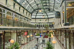 Wayfarers Arcade. Wayfarers Shopping Arcade, Southport, Merseyside. An example of victorian architecture with a modern shopping interior, but a timeless feel Royalty Free Stock Photos