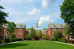 Wayland Hall, Brown University, provvidenza, U.S.A. fotografie stock