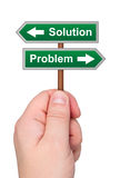 Waymark arrows solution problem. Royalty Free Stock Image