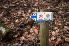 Waymarking on the Camino de Santiago, long Royalty Free Stock Photos