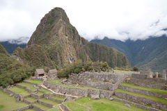 Wayna Picchu and Inca Ruins Stock Photos