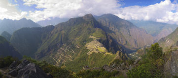 Wayna Picchu panorama view Stock Images
