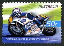 Wayne Gardner Australian Postage Stamp immagine stock