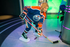 Wayne Gretzky in Grevin museum of the wax figures in Prague. Royalty Free Stock Images