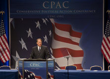 Wayne LaPierre en CPAC 2011 Foto de archivo libre de regalías