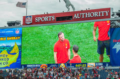 Wayne Rooney on big screen Royalty Free Stock Image