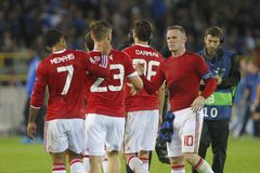 Wayne Rooney Champion League FC Bruges - Manchester United Fotografia Stock Libera da Diritti