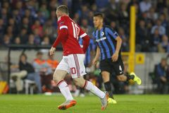 Wayne Rooney Champion League FC Bruges - Manchester United Immagine Stock