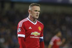 Wayne Rooney Champion League FC Brugge - Manchester United Stock Afbeelding