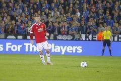 Wayne Rooney Champion League FC Brujas - Manchester United Imagen de archivo libre de regalías
