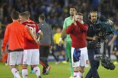 Wayne Rooney mistrza liga FC Bruges, Manchester United - Zdjęcie Stock