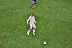 Wayne Rooney su un campo Fotografia Stock Libera da Diritti