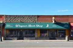 Waynes buta sklep Coda Wyoming Zdjęcia Royalty Free