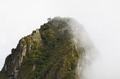 Waynu Picchu - Cuzco, Peru. This photo was taken while hiking the Inca Trail to Machu Picchu. This photo is of the smaller peak Waynu Picchu or Huayna Picchu Royalty Free Stock Images