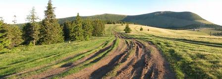 Ways at mountains. Romanian Carpathians Stock Image