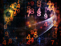 Ways of Numbers Royalty Free Stock Photos