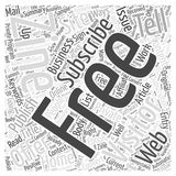20 Ways To Convert Visitors Into Subscribers word cloud concept  background. Text Royalty Free Stock Photos