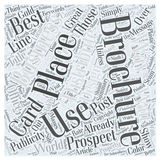 10 Ways to Distribute Your Brochures wordcloud concept. 10 Ways to Distribute Your Brochures Stock Images